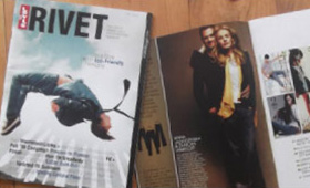 "<mark class=""blue-text"" style=""font-weight: bold"">Levi's Rivet Magazine</mark>"