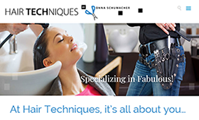 HairTechniques.net — Web Design